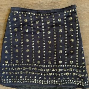 French Connection Pewter Skirt, Size 2